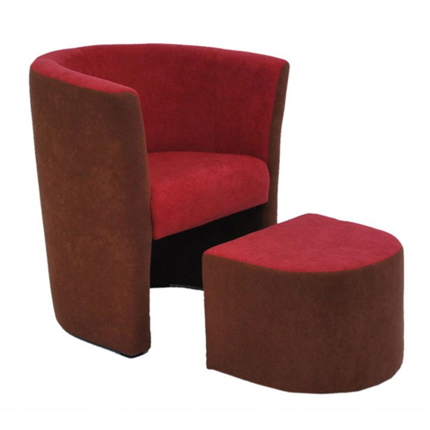 fauteuil cabriolet pouf repose pieds en microfibre design ensemble de salon ebay. Black Bedroom Furniture Sets. Home Design Ideas